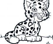 Coloriage et dessins gratuit Petit Guépard en souriant à imprimer
