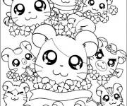 Coloriage dessin  Hamster 15