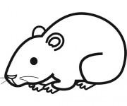 Coloriage dessin  Hamster 5