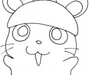 Coloriage et dessins gratuit Hamster dessin animé à imprimer