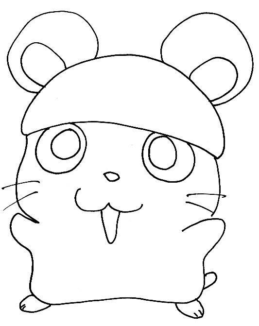 Coloriage et dessins gratuits Hamster dessin animé à imprimer