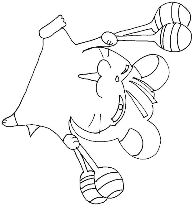 Coloriage et dessins gratuits Hamster en train de jouer à imprimer