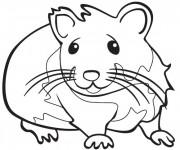 Coloriage et dessins gratuit Hamster pour enfant à imprimer