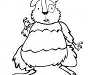Coloriage et dessins gratuit Hamster rigolo à imprimer