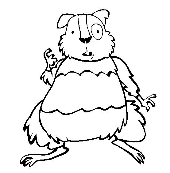 Coloriage et dessins gratuits Hamster rigolo à imprimer