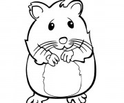 Coloriage Hamster timide