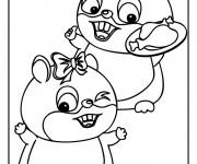 Coloriage et dessins gratuit Hamsters et leurs repas à imprimer