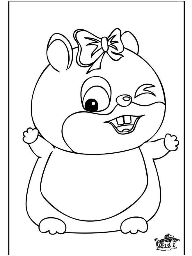 Coloriage petit hamster heureux dessin gratuit imprimer - Hamster gratuit ...