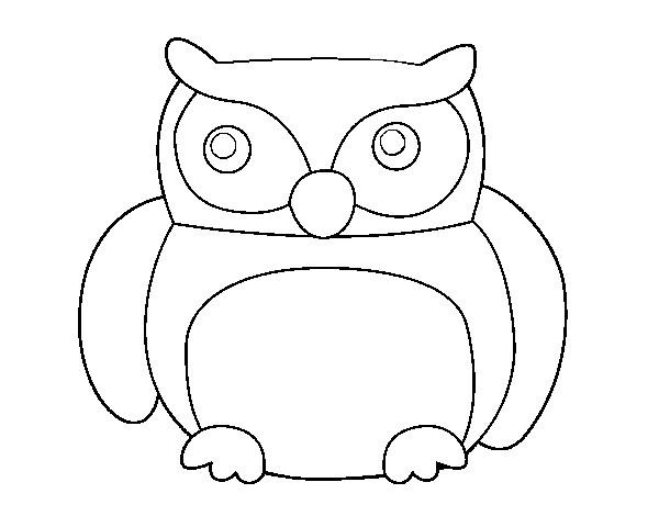 Coloriage et dessins gratuits Hibou à télécharger à imprimer