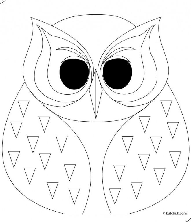 Coloriage et dessins gratuits Hibou adulte à imprimer