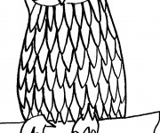 Coloriage et dessins gratuit Hibou debout à imprimer