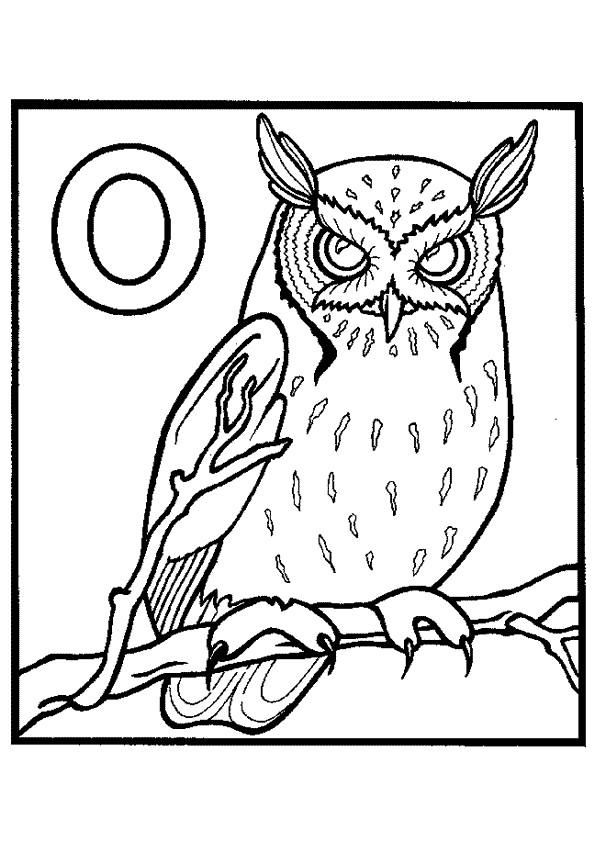 Coloriage et dessins gratuits Hibou effrayant à imprimer