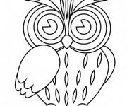 Coloriage et dessins gratuit Hibou en couleur à imprimer