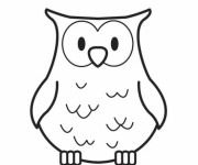 Coloriage Hibou facile