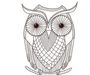Coloriage et dessins gratuit Hibou mandala pour enfant à imprimer