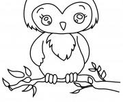 Coloriage et dessins gratuit Hibou mignonne à imprimer