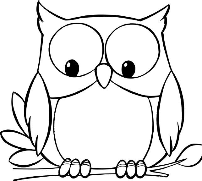 Coloriage et dessins gratuits Hibou regarde en dessous à imprimer