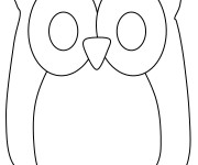 Coloriage Hibou simple