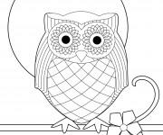Coloriage et dessins gratuit Hibou vecteur à imprimer