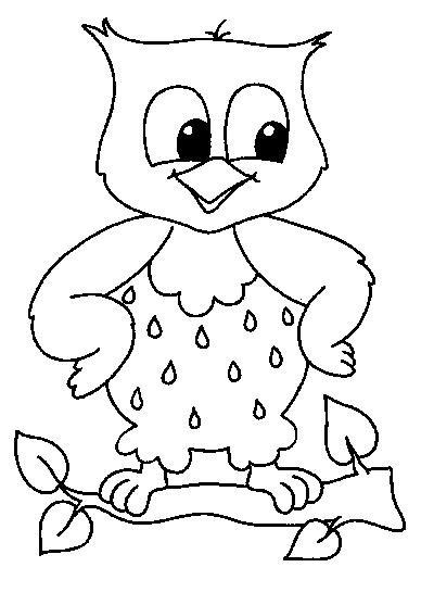 Coloriage et dessins gratuits Petit Hibou à imprimer