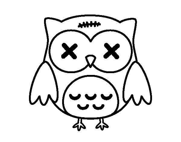 Coloriage et dessins gratuits Petit Hibou embarrassé à imprimer