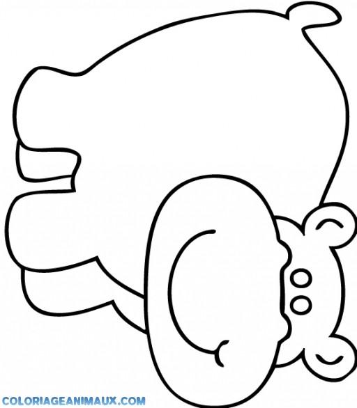 Coloriage et dessins gratuits Hippopotame beau à imprimer