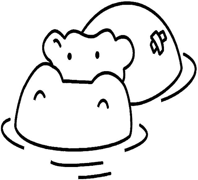 Coloriage et dessins gratuits Hippopotame blessé à imprimer