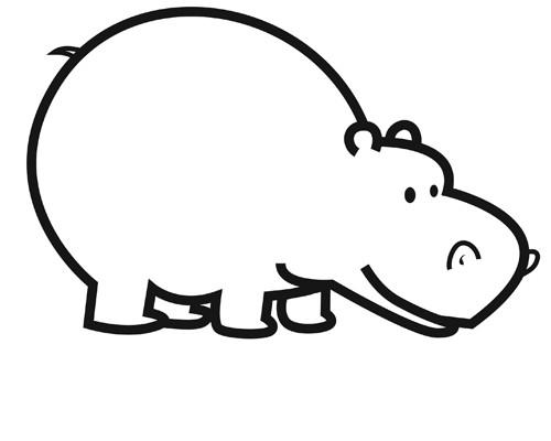 Coloriage Bebe Hippopotame.Coloriage Hippopotame Couleur Dessin Gratuit A Imprimer
