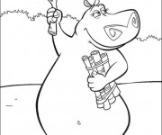 Coloriage et dessins gratuit Hippopotame de Madagascar à imprimer
