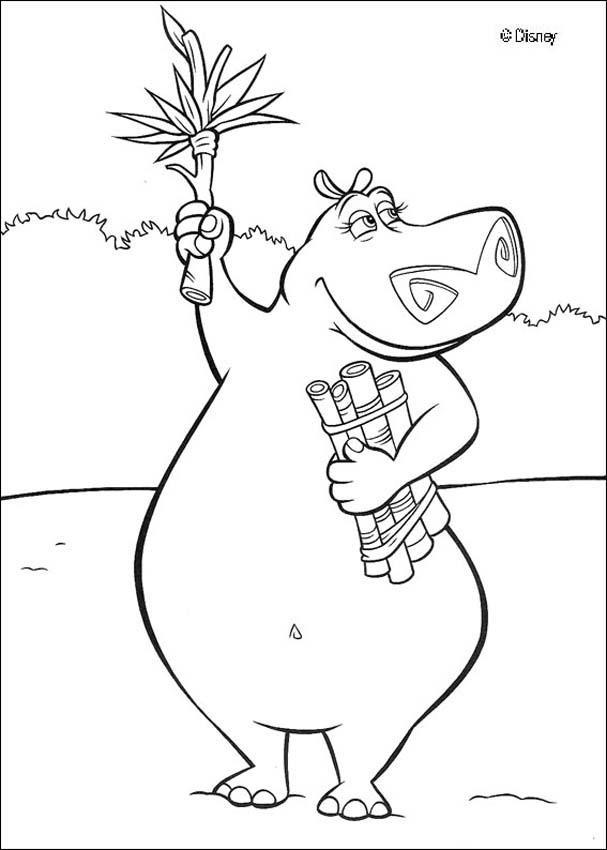 Coloriage et dessins gratuits Hippopotame de Madagascar à imprimer