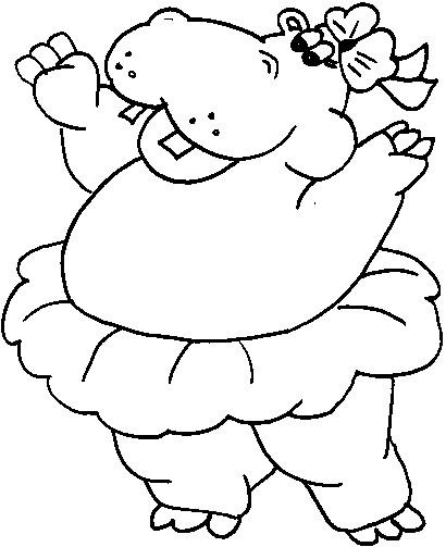 Coloriage et dessins gratuits Hippopotame en s'amusant à imprimer