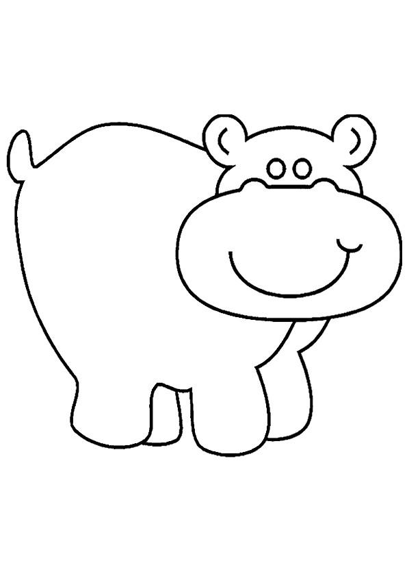 Coloriage et dessins gratuits Hippopotame pour enfant à imprimer