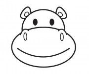 Coloriage Hippopotame qui sourit