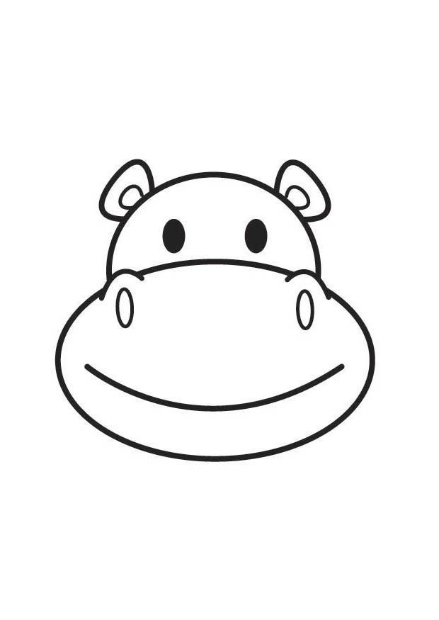Coloriage et dessins gratuits Hippopotame qui sourit à imprimer