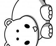 Coloriage et dessins gratuit Petit Hippopotame souriant à imprimer