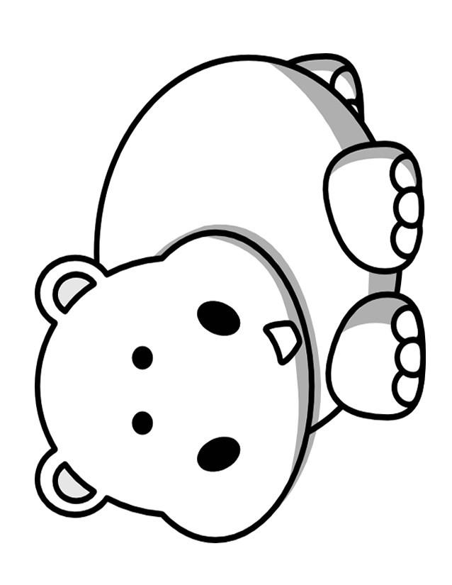 Coloriage et dessins gratuits Petit Hippopotame souriant à imprimer