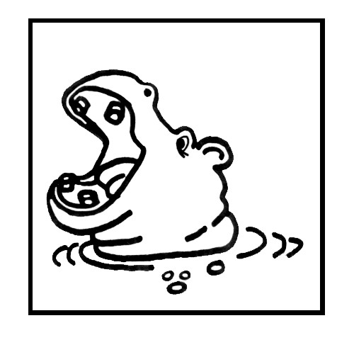 Coloriage t te d 39 hippopotame dans l 39 eau dessin gratuit - Dessin d hippopotame ...