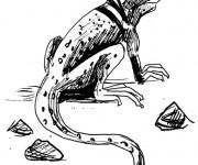 Coloriage et dessins gratuit Iguane au crayon à imprimer
