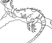 Coloriage et dessins gratuit Iguane sur l'arbre à imprimer