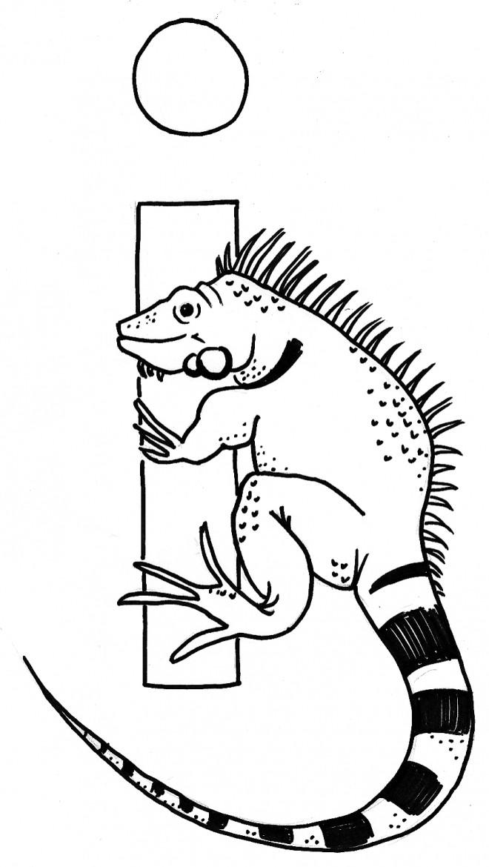 Coloriage et dessins gratuits Iguane terrestre à imprimer