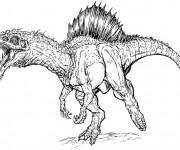 Coloriage et dessins gratuit Dinosaure au crayon à imprimer
