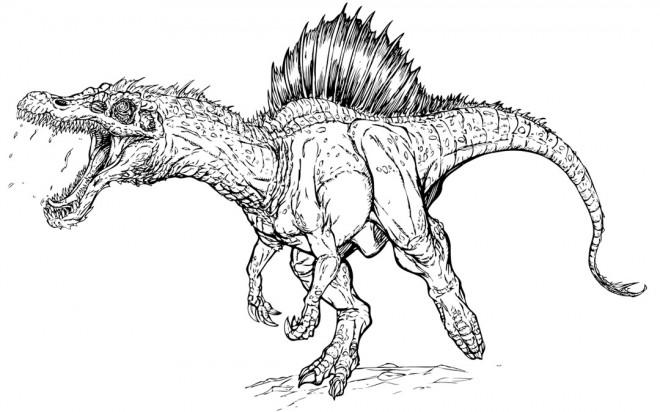 Coloriage Dinosaure Au Crayon Dessin Gratuit à Imprimer