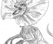 Coloriage et dessins gratuit Dinosaure au crayon pour enfant à imprimer
