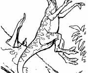 Coloriage Dinosaure carnivore à l'attaque