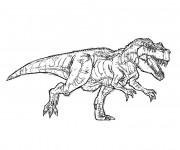 Coloriage Dinosaure effrayant de Jurassic Park