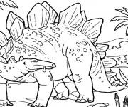 Coloriage et dessins gratuit dinosaure géant à imprimer