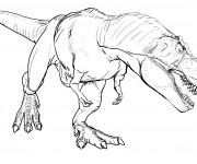 Coloriage et dessins gratuit Dinosaure qui fait peur à imprimer