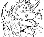 Coloriage Dinosaure Triceratops