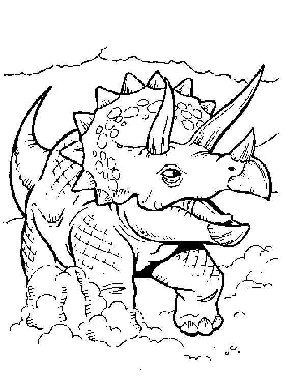 Coloriage Dinosaure Triceratops.Coloriage Dinosaure Triceratops Dessin Gratuit A Imprimer