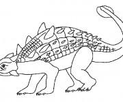 Coloriage et dessins gratuit Euoplocephalus dinosaure à imprimer